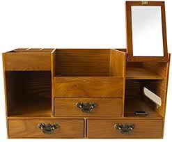 rart wooden makeup storage box drawer