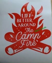 Camping Campfire Decal Rv 5th Wheel Camper Atv Suv Car Truck Window Sticker 6 25 Picclick