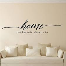 Amazon Com Urbaa Home Our Favorite Place To Be Vinyl Wall Decal Wall Stickers Art Decor Vinyl Peel And Stick Mural Removable Wall Sticker Decals For Room Home Kitchen Dining