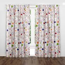 Colorful Polka Dot Curtain Opaque Window Treatments For Kids Valance