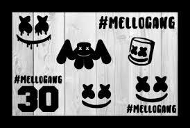 Marshmello Car Decals Dj Marshmello Mello Gang Vinyl Decals Trap Music アランウォーカー アラン