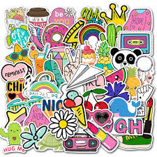 50pcs Pack Simple Girl Cute Cartoon Vsco Car Stickers Laptop Decal Diy Luggage Guaitar Skateboard Toy Waterproof Stickers Stickers Aliexpress