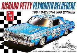 Amt Richard Petty 1964 Plymouth Belvedere Plastic Model Car Kit 1 25 Scale 989 12