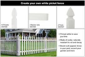 Outdoor Essentials 1 2 In X 3 1 2 In X 3 1 2 Ft Cedar French Gothic Primed White Fence Picket 14 Pack 357408 The Home Depot In 2020 Outdoor Essentials Building A Fence White Fence