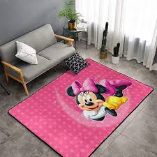 Amazon Com Beautiful Minnie Mickey Mouse Carpet Area Mat Bedroom Camping Soft Mat Kids Boys Girl Blankets Kindergarten Home Room Comfortable And Durable Decor Rug Polyester 60 X 39 Inch Kitchen Dining