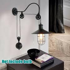 wall mounted pendant light vintage