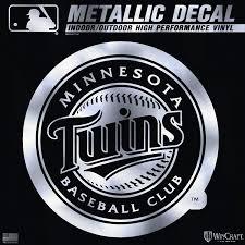 Amazon Com Minnesota Twins 6 Silver Metallic Decal Die Cut Mirrored Style Auto Baseball Sports Outdoors