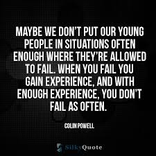 colin powell quotes be we don t put our young people in