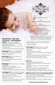 makeup artist wedding packages