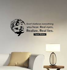 Tupac Shakur Quote Wall Decal Rap Music Rapper Vinyl Sticker Art Room Decor Tsq1 Wall Quotes Decals Nursery Room Wall Decals Custom Vinyl Wall Decals