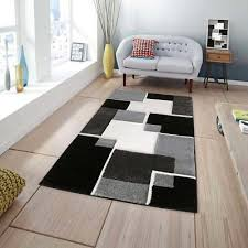 space design luxury black area rug