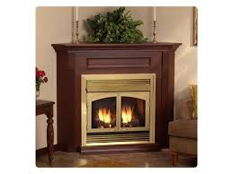 corner gas fireplace bricks