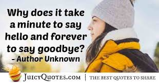 forever to say goodbye quote picture