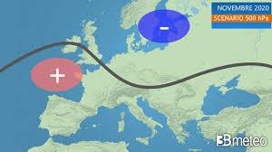 Meteo NOVEMBRE 2020. La tendenza meteo per il terzo mese d'AUTUNNO « 3B  Meteo