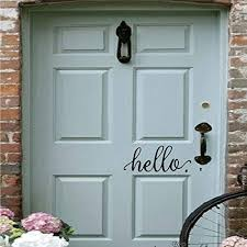 Battoo 2 Pack Hello Wall Decal Farmhouse Wall Decor Hello Door Decal Vinyl Lettering For Front Door Country Cottage Decor 9 X 4 Black Amazon Com