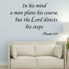 Winston Porter Dowe In His Mind A Man Plans His Course But The Lord Directs His Steps Wall Decal Wayfair