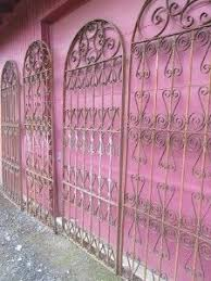 Four French Antique Vintage Wrought Iron Panels Gates Room Garden Dividers Wrought Iron Fences Wrought Iron Fence Panels Garden Dividers