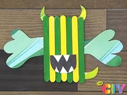 Popsicle Stick Monster Crayola Com Au