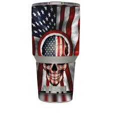 Skin Decal For Yeti 30 Oz Rambler Tumbler America Skull Military Usa Murica Itsaskin Com