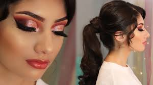 prom makeup hair 2 rose gold cut