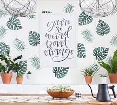 Palm Branches Wall Decal Pottery Barn