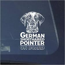 Amazon Com German Shorthaired Pointer Clear Vinyl Decal Sticker For Window Hunting Dog Sign Art Print Arts Crafts Sewing