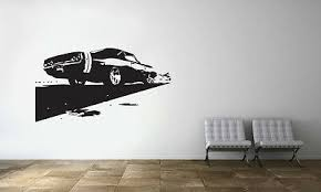 Sports Race Muscle Car Ford Mustang Wall Decal Art Decor Vinyl Sticker Ebay