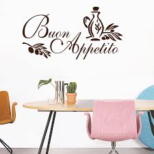 Wall Art Sticker Italian Quote Kitchen Decal Greeting Meal Vinyl Diningroom Wall Stickers Home Decor Stickers Home Decor Wall Stickers Home Decorhome Decor Aliexpress