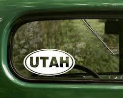 Utah Decal 2 Oval Stickers For Car Truck Laptop Window Bumper Jeep Ebay
