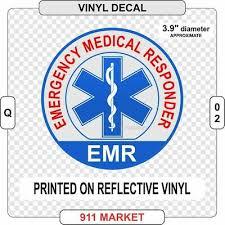 Emr Emergency Medical Responder Reflective Vinyl Decal Sticker Car Truck Q 02 Ebay