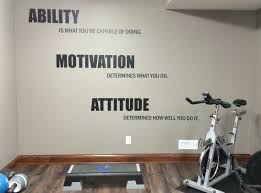 Motivational Quote Gym Wall Decal Ability Motivation Etsy Gym Wall Decal Gym Room At Home Workout Rooms