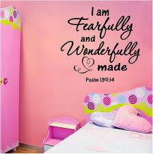 Wall Decal Bible Scripture Psalm 139 14 I Am Fearfully And Etsy Inspirational Decals Wall Decals Psalms