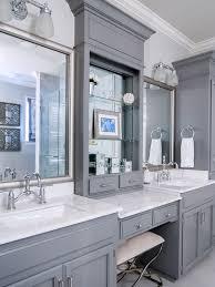 vanity between 2 sinks with drawers