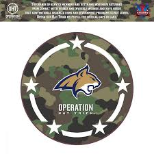 Montana State Bobcats 24 X 24 Operation Hat Trick Coin Die Cut Vinyl Decal