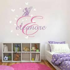 Fairies Flower Custom Personalised Name Wall Stickers Kids Nursery Decal Decor Ebay