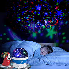 Belun Stars Night Light For Kids Universe Night Light Projection Lamp Romantic Star Christmas Birthday Space Projector Lamp For Bedroom Blue Amazon Com