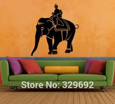 Wall Decal Vinyl Sticker Art Modern Indian Elephant Animal India Dubai Wall Stickers Home Decor Indian Home Decor Olivia Decor Decor For Your Home And Office