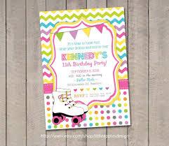 Roller Skate Invite Roller Skate Party By Littleapplesdesign