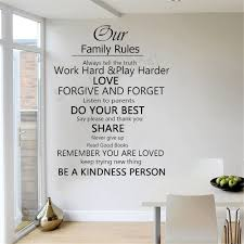 Wall Quote Decal Our Family House Rules Home Love Do Your Best Wall Art Vinyl Floor Stickers Home Decor Vinilos Parede Wall Stickers Aliexpress