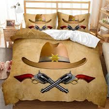 West Cowboy 3d Bedding Set Duvet Cover Sets Kids Room Comforter Bed Set 3pcs Bedclothes Queen King Size Bed Linens No Sheet Bedding Sets Aliexpress
