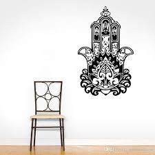 Hand Of Fatima Wall Decals Yoga Indian Buddha Wall Stickers Home Decor Bedroom Headboard Decorating Murals White Vinyl Wall Decals White Wall Decals From Moderndecal 9 8 Dhgate Com