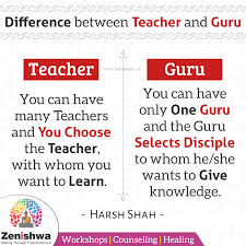 do you know the difference between teacher and guru you can have