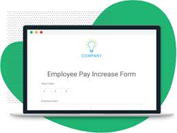 employee pay increase form template