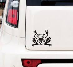 Frog Peace Decal Sticker Window Cute Car Truck Suv Bumper Wish