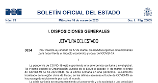 Real Decreto-ley 8/2020, de 17 de marzo