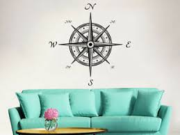 Compass Wall Decal Nautical Rose Navigate Vinyl Sticker Decals Bedroom Zx173 Ebay