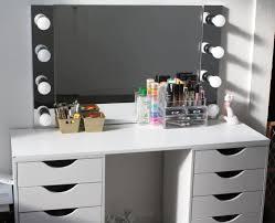 d i y vanity desk mirror w led