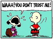 Pratie Place: Charlie Brown and Lucy and the football