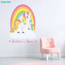 Rainbow Wall Decals Australia Personalised Stickers Ireland Removable Design For Nursery With Name Giant Unicorn Vamosrayos