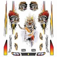 Pinewood Derby Decals Tiger